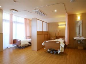 明るく快適な療養室