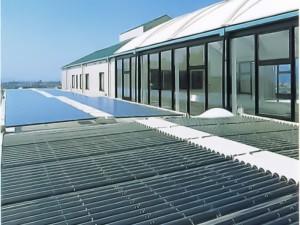 経済産業省の補助金により設置されたソーラーシステム